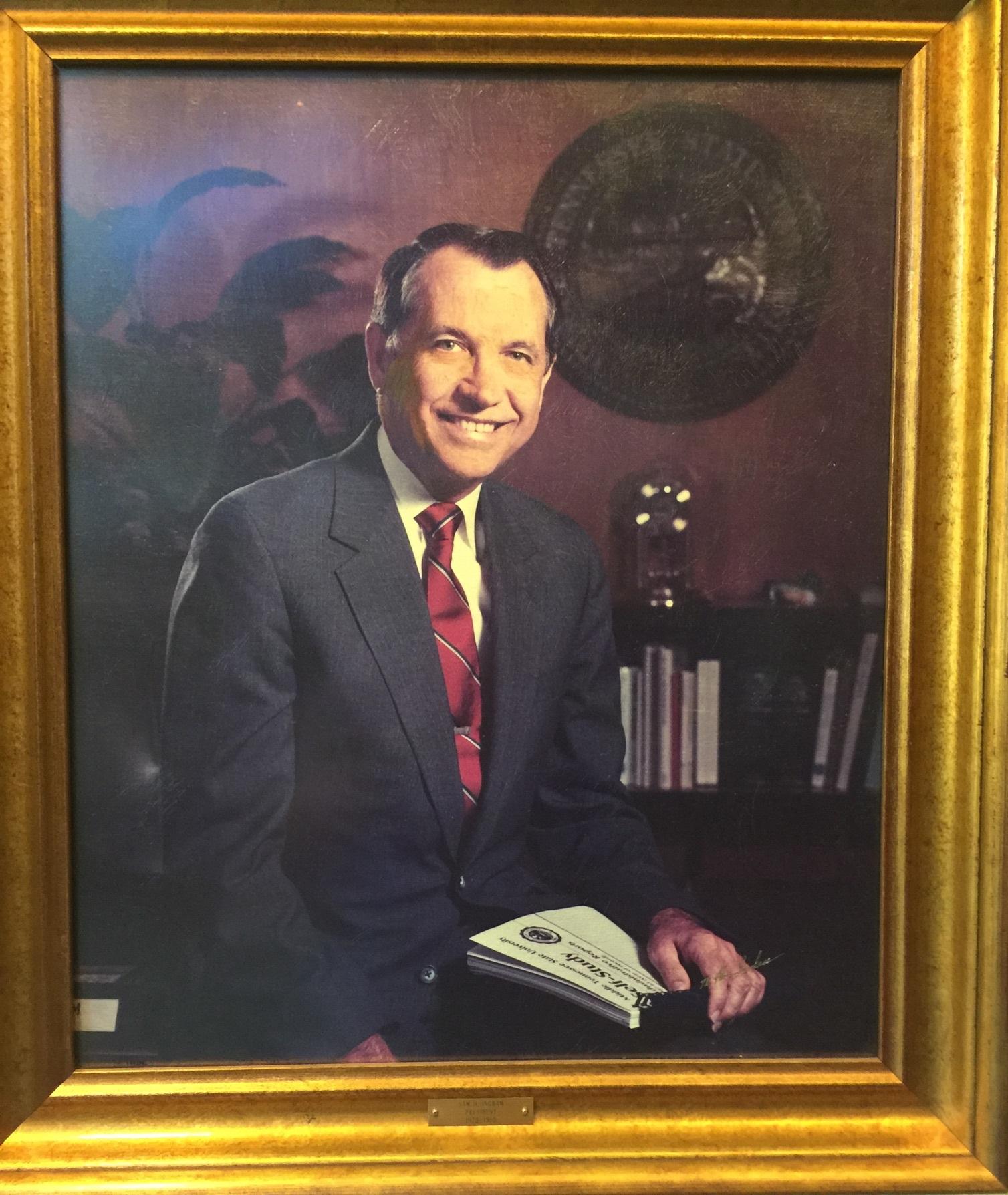 MTSU President Sam Ingram's official portrait